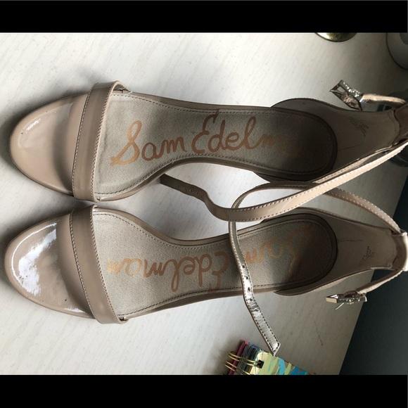 9627e7eeee9 Sam Edelman Shoes - Sam Edelman Patti Ankle Strap Sandal Size 7 Nude